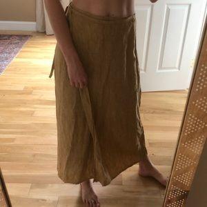 Gap linen wrap skirt